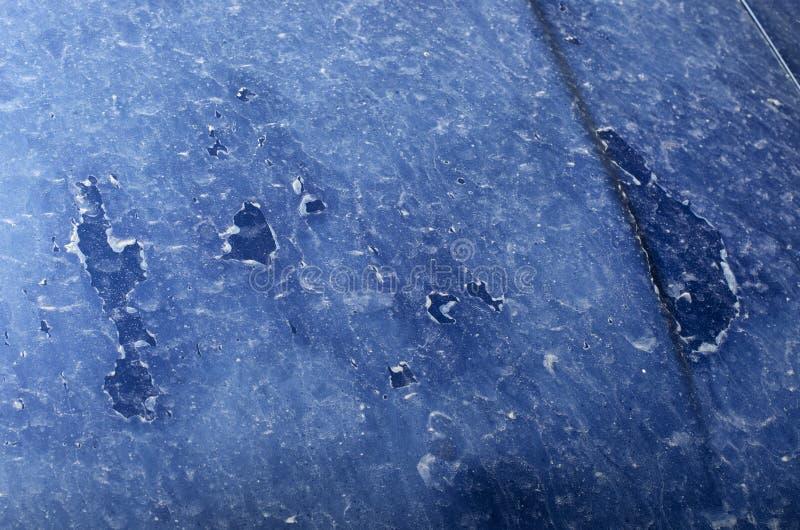 汽车的敞篷被暴露盐溶腐蚀 图库摄影