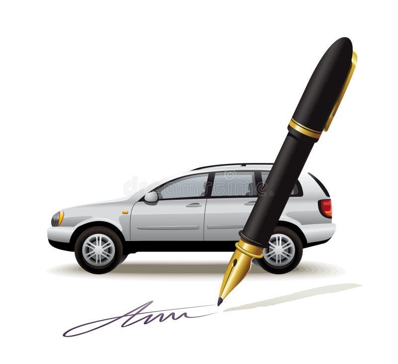 汽车的文书工作 库存例证