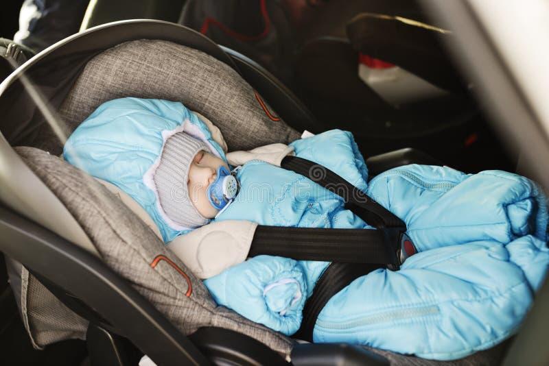 汽车的新生儿 免版税库存图片