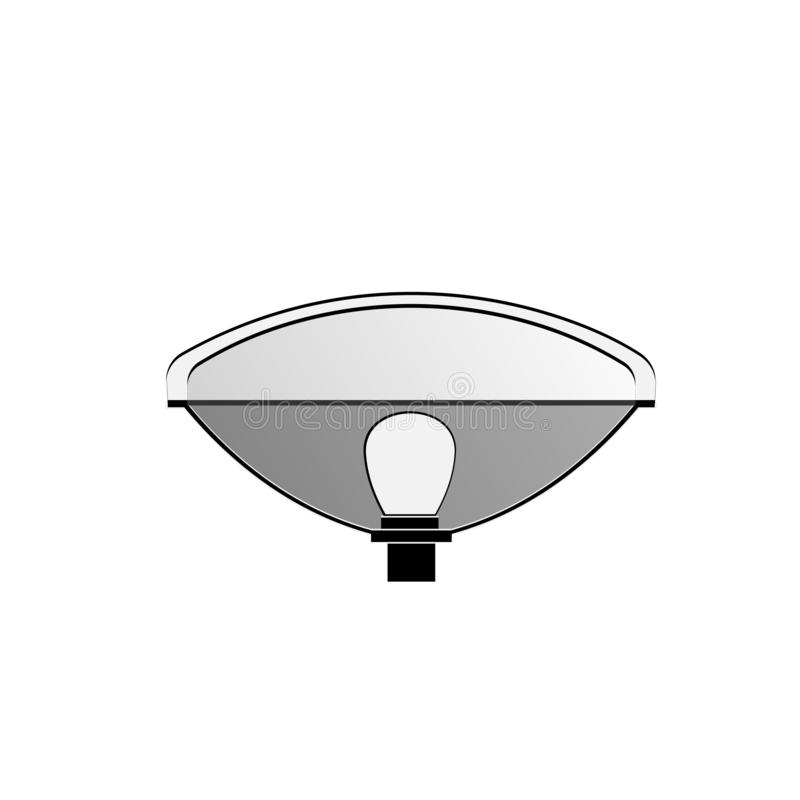 汽车的车灯 向量例证