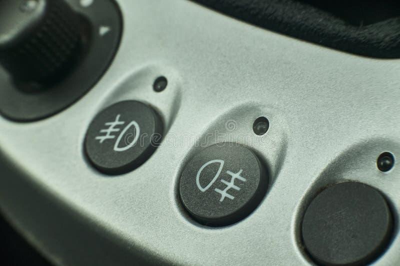 汽车的雾灯标志 免版税库存图片