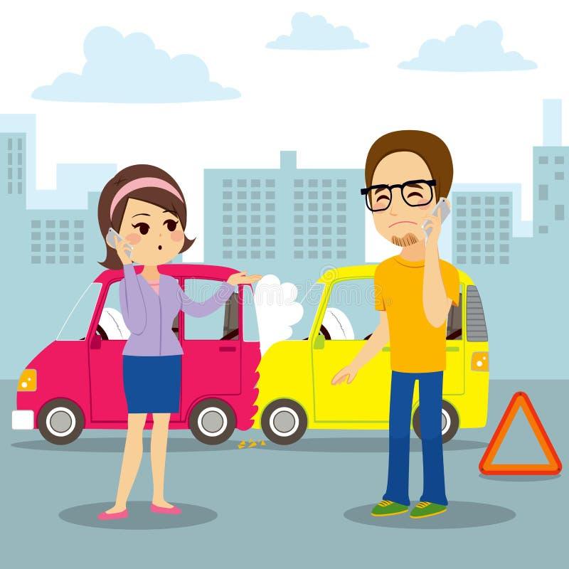 汽车碰撞报告 皇族释放例证