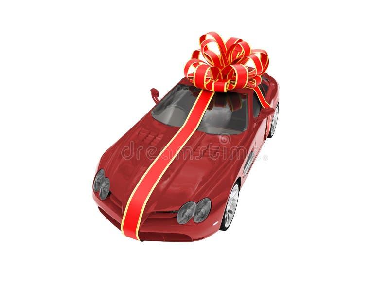 汽车礼品查出的红色 皇族释放例证