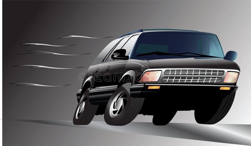 汽车移动 向量例证