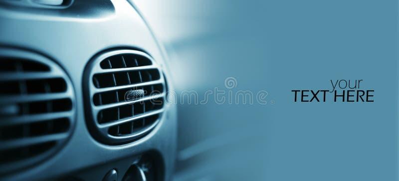 汽车空调。具有复制空间的汽车空调 库存图片