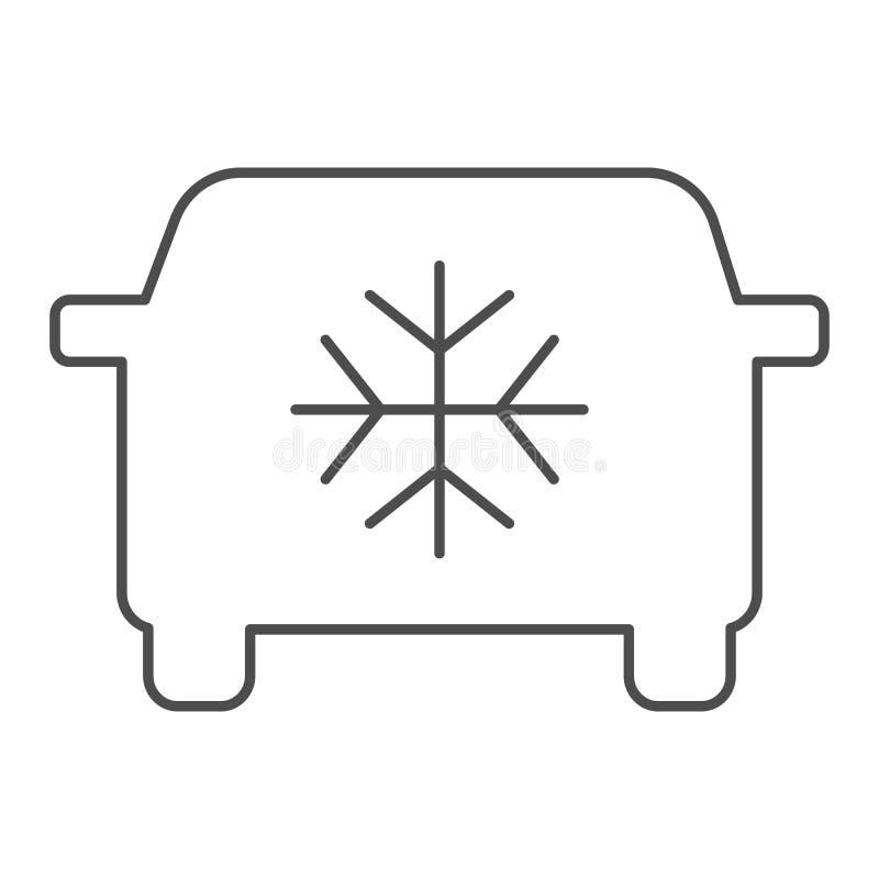 汽车空调稀薄的线象 汽车调节剂在白色隔绝的传染媒介例证 汽车气流概述 向量例证