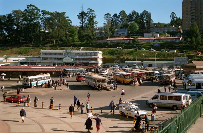 汽车站,姆巴巴纳,斯威士兰 库存图片