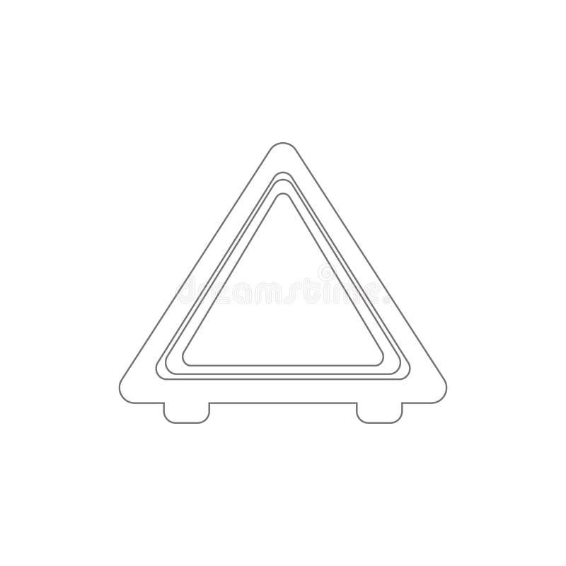 汽车紧急刹车概述象的图片 r 标志和标志可以为网使用 向量例证