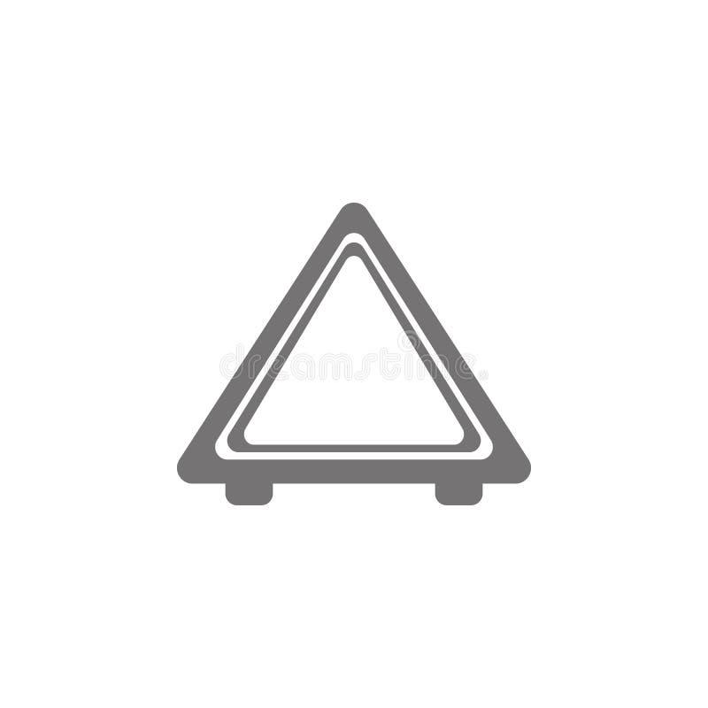 汽车紧急刹车象的图片 库存例证