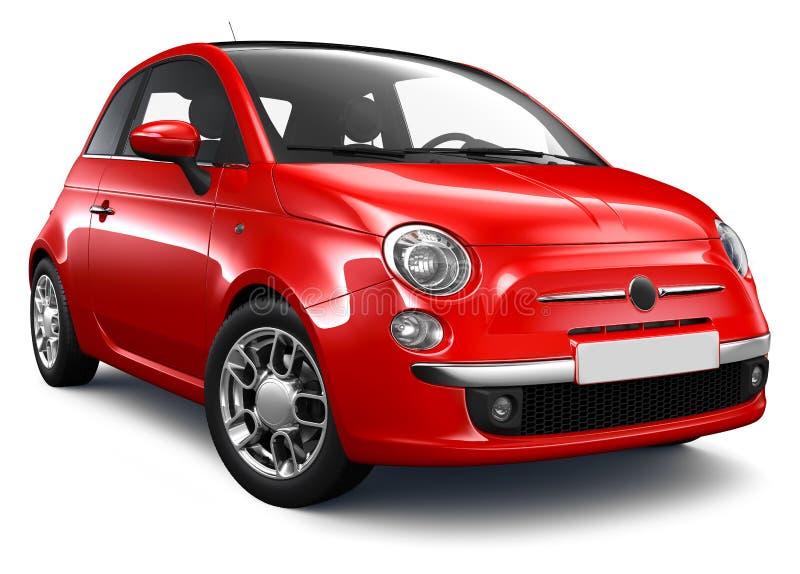 汽车红色小 向量例证