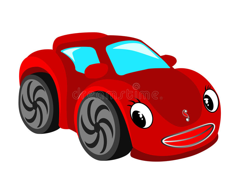 汽车红色 皇族释放例证