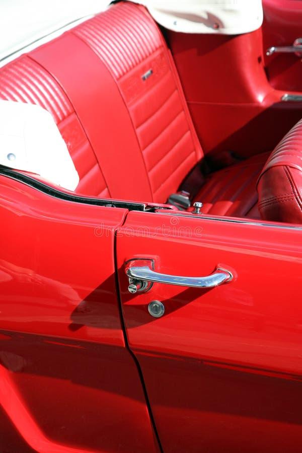 汽车经典红色 图库摄影