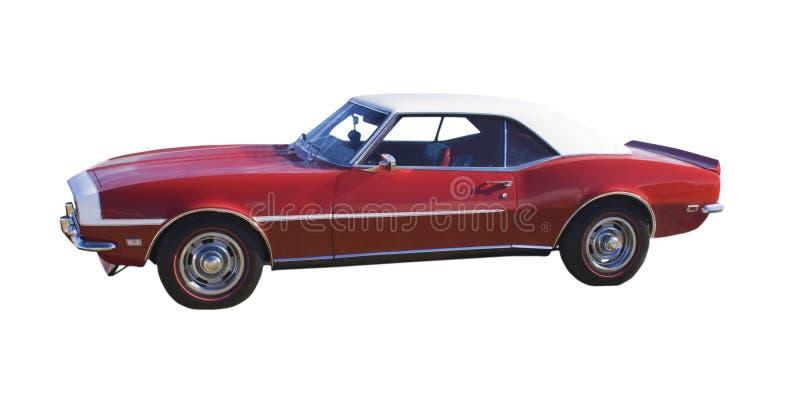 汽车经典肌肉红色 库存图片
