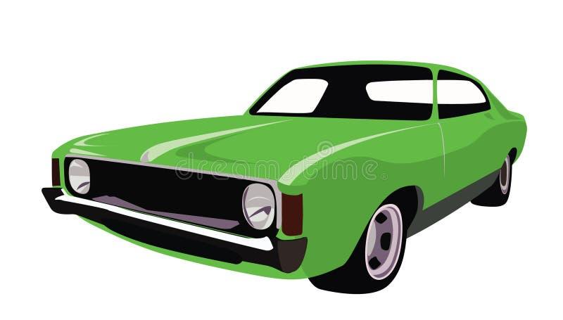 汽车绿色 皇族释放例证