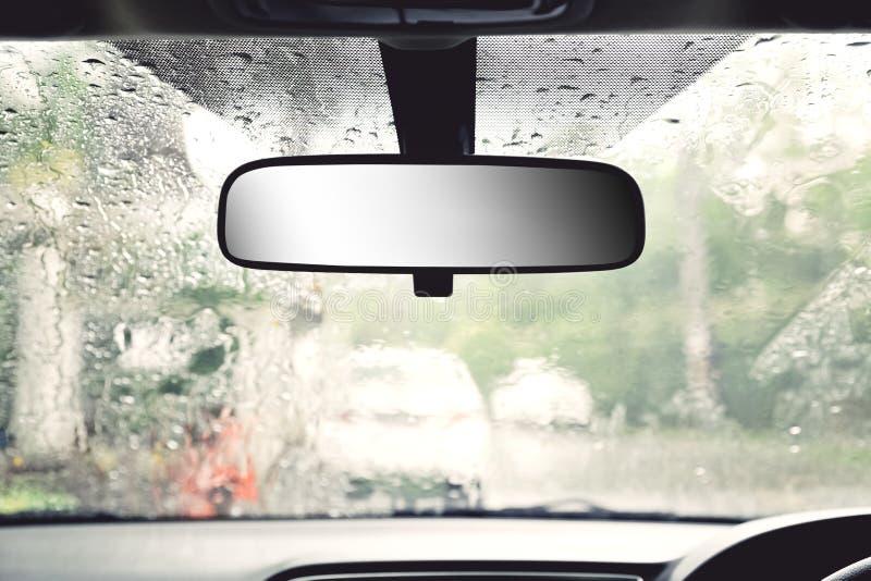 汽车罕见的视图镜子 免版税库存图片