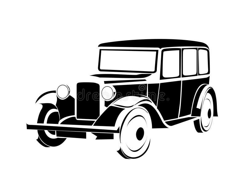 汽车老葡萄酒 皇族释放例证