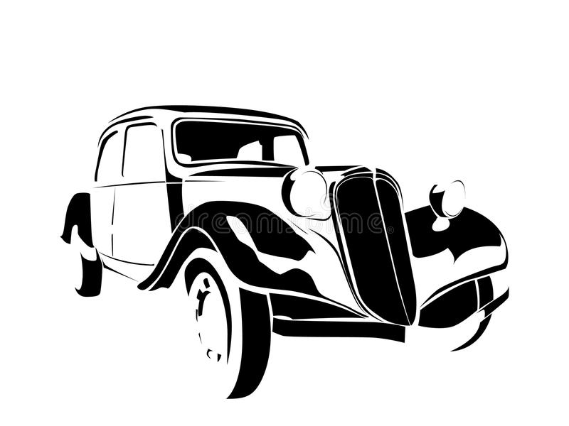 汽车老葡萄酒 向量例证