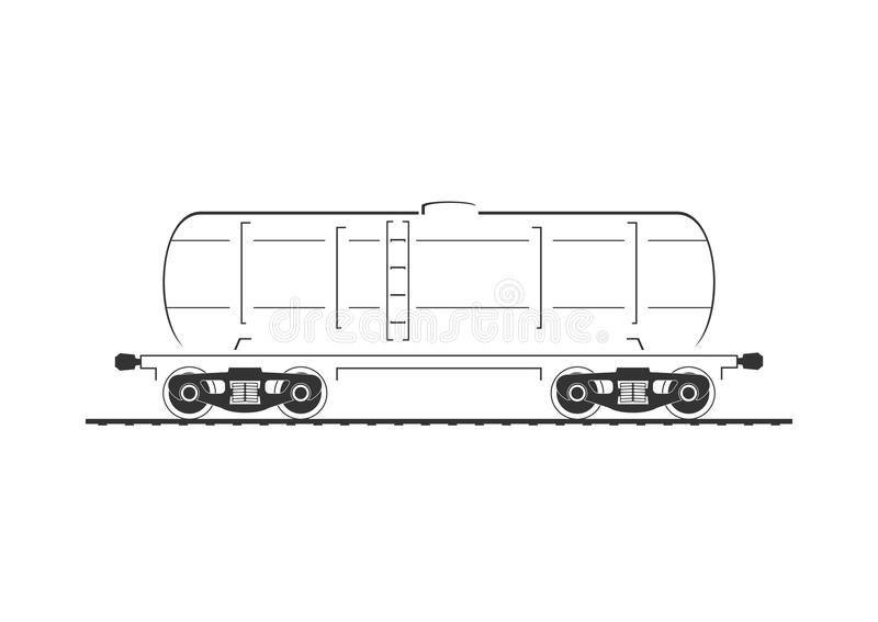 汽车被画的现有量查出的坦克白色 向量例证