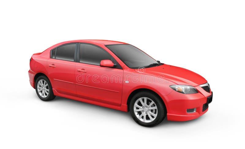 汽车裁减路线红色w 库存例证