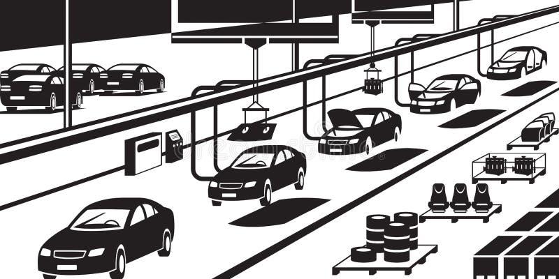 汽车装配线 向量例证