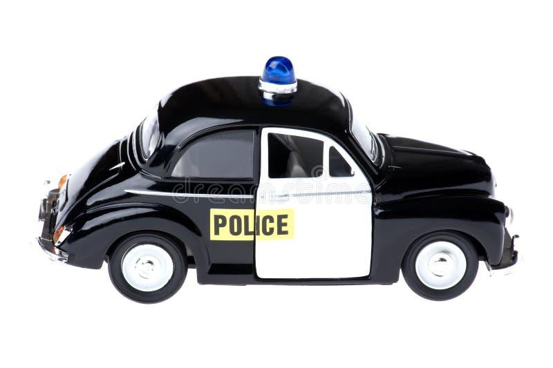 汽车警察戏弄白色 图库摄影