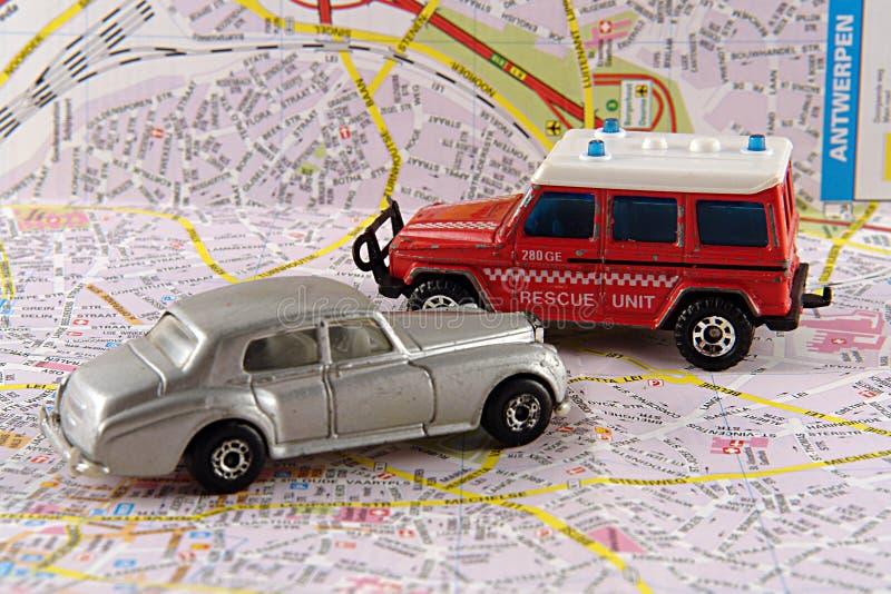 汽车警察问题救援队 库存照片