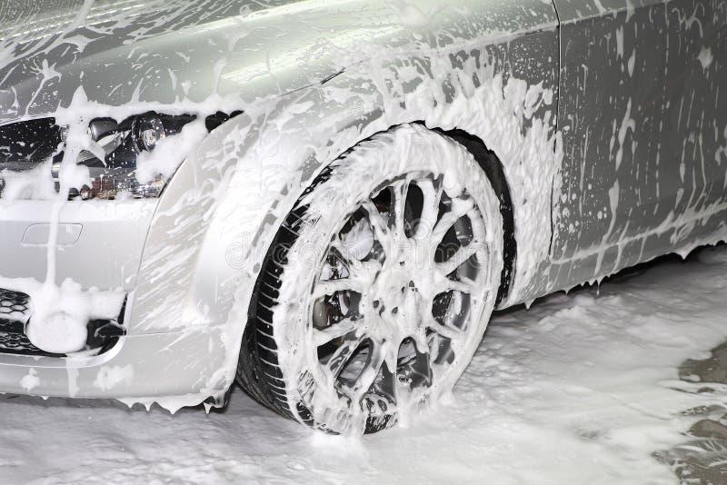 汽车详述的洗涤 库存照片
