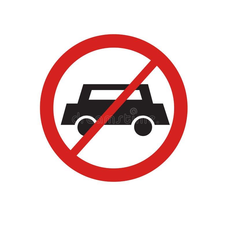 汽车象在白色背景和标志隔绝的传染媒介标志,汽车商标概念 库存例证