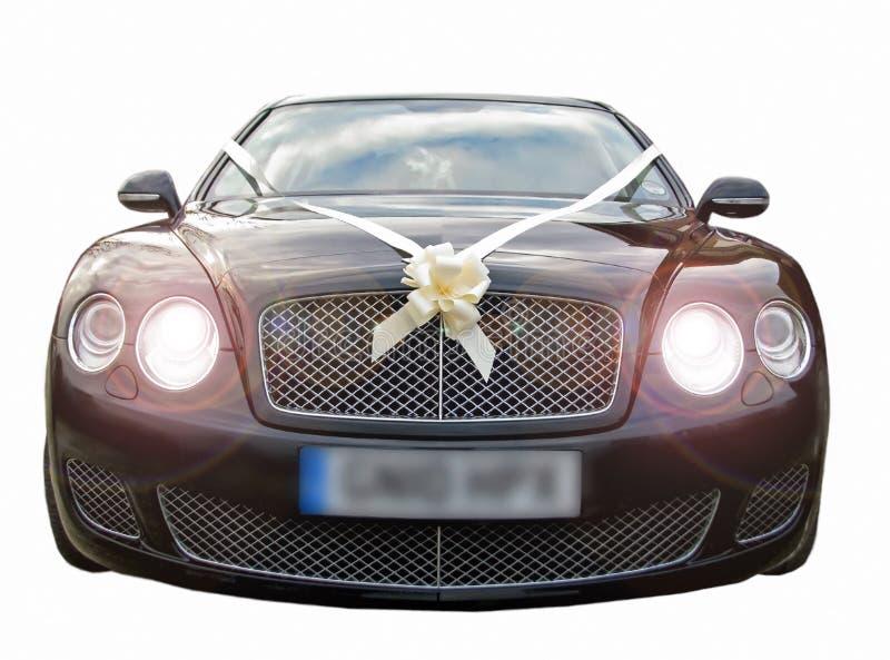 汽车豪华声望婚礼 免版税库存照片
