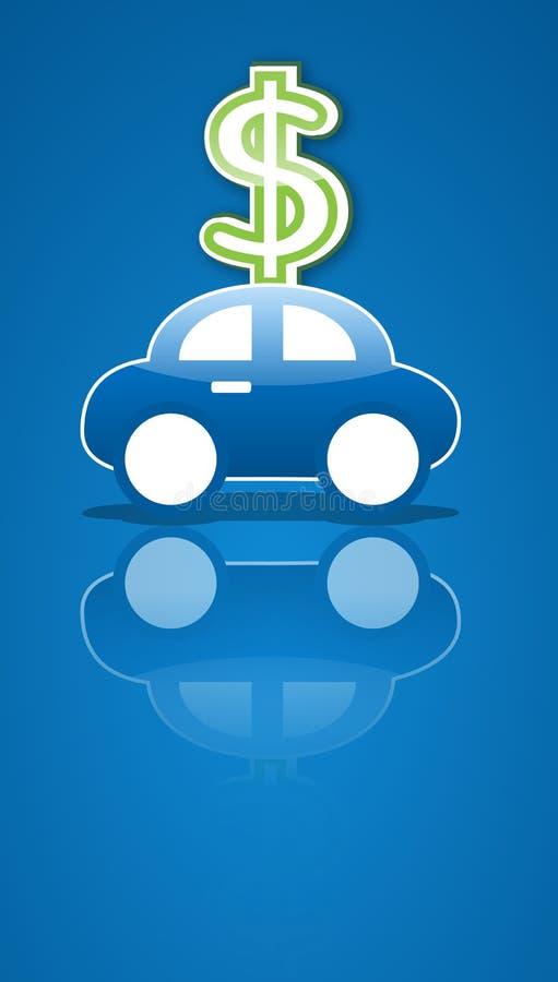 汽车货币符号 向量例证