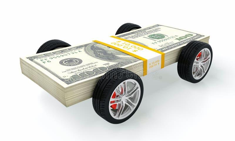汽车货币 库存例证