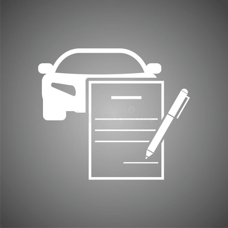 汽车购买契约 皇族释放例证