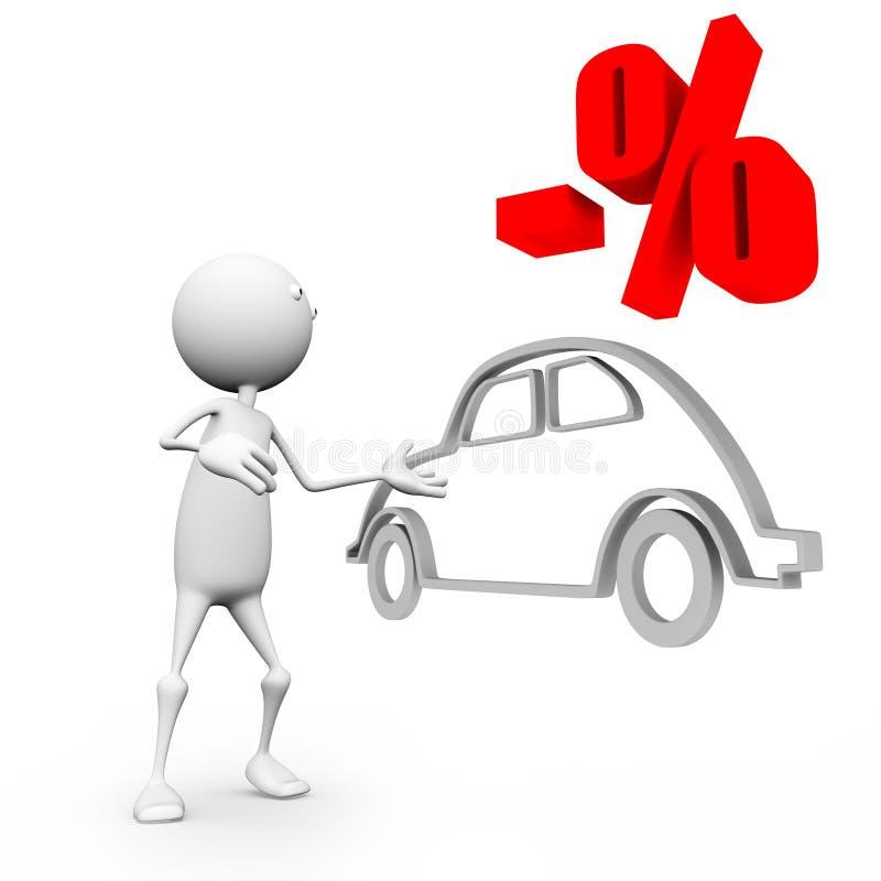 汽车贴现销售额 库存例证