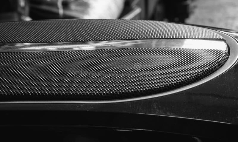 汽车超低音扬声器音频 免版税库存照片