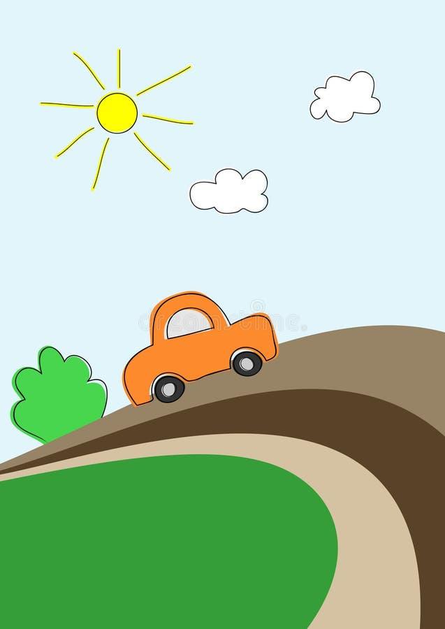 汽车路 向量例证