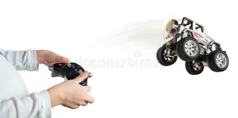 汽车跳的玩具 库存图片