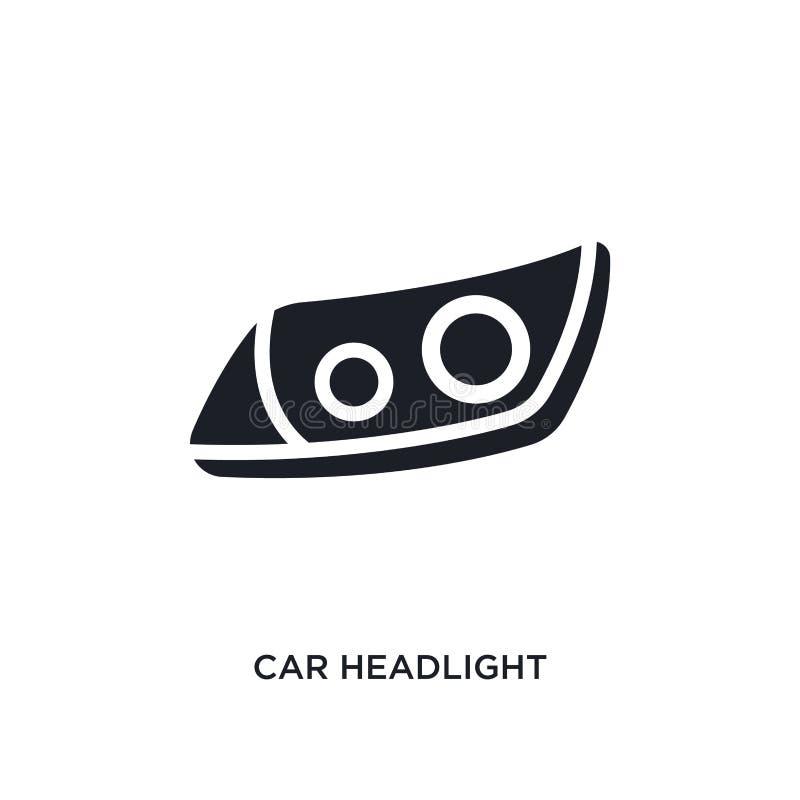 汽车车灯被隔绝的象 从汽车零件概念象的简单的元素例证 汽车车灯编辑可能的商标标志标志 皇族释放例证