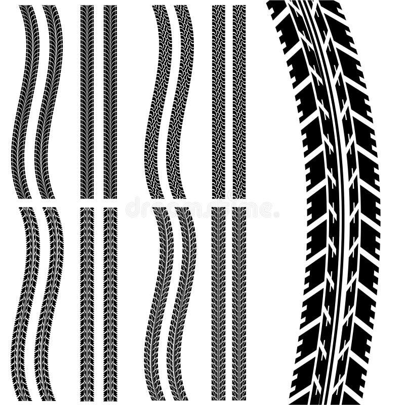 汽车轮胎 向量例证
