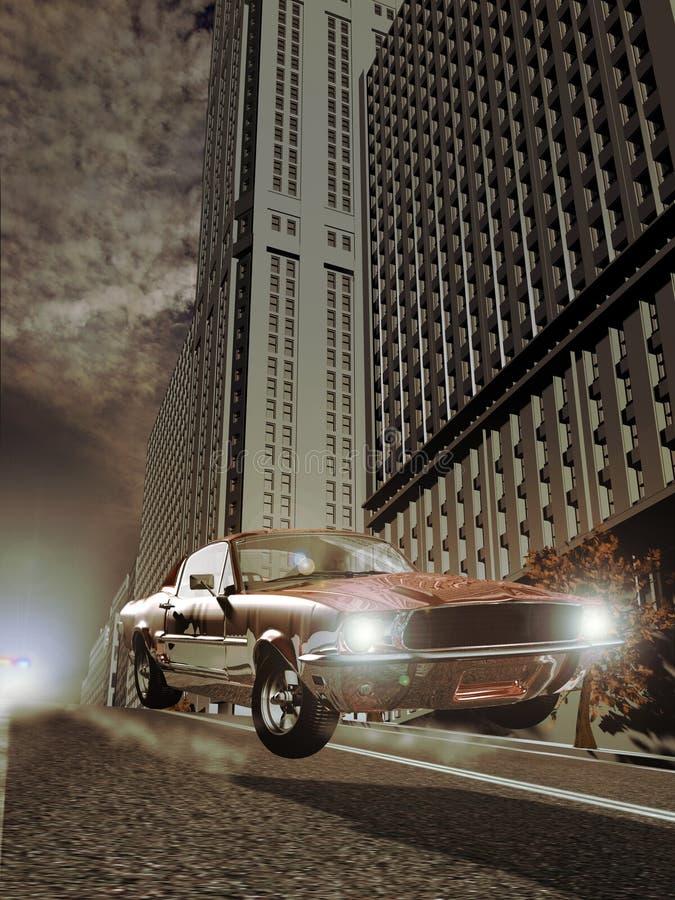 汽车追逐 向量例证
