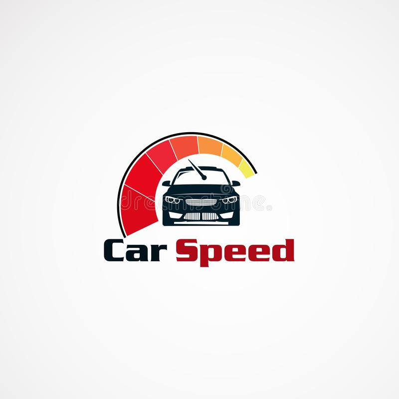 汽车速度商标设计观念、现代象、元素和模板公司的 向量例证