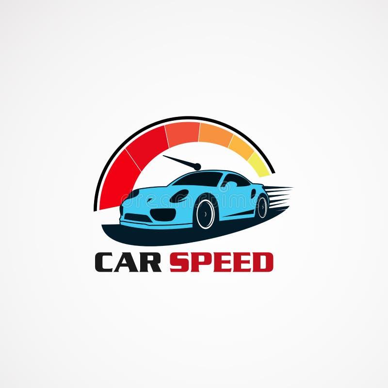 汽车速度表现商标传染媒介、象、元素和模板公司的 皇族释放例证