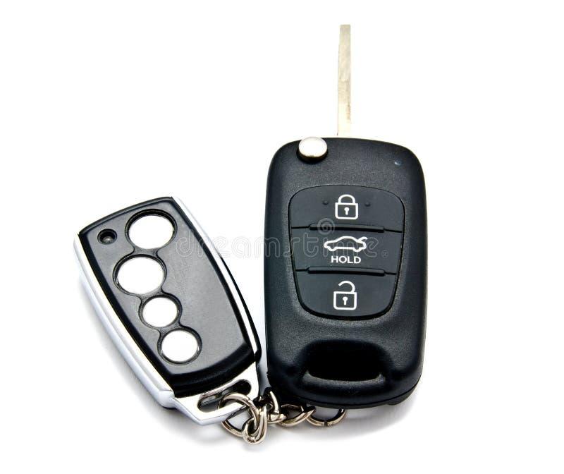 汽车钥匙和报警系统魅力 免版税库存照片