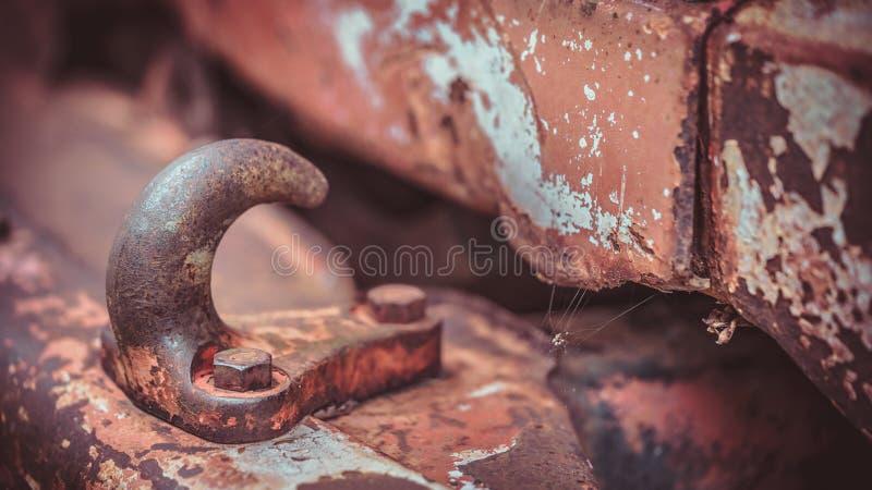 汽车铁锈钢推挤和拉扯 库存照片