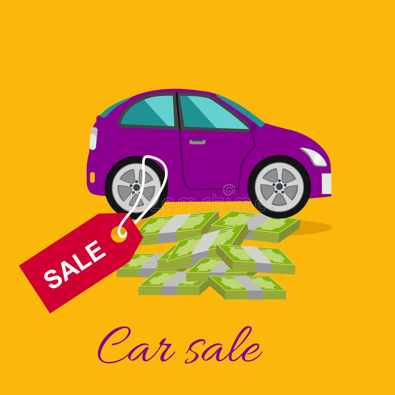 汽车销售概念 库存例证