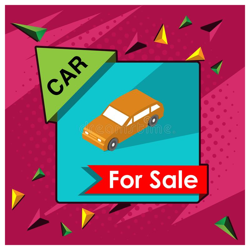 汽车销售横幅 海报、背景、卡片、横幅、贴纸等等的设计 皇族释放例证
