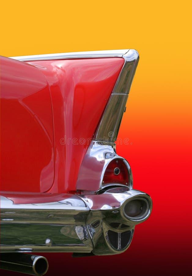 汽车闪亮指示减速火箭的尾标 免版税库存图片