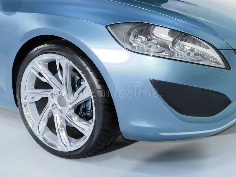 汽车闪亮指示轮子 免版税图库摄影