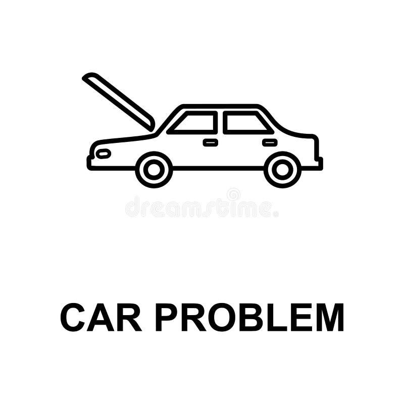 汽车问题象 汽车修理的元素流动概念和网apps的 详细的象可以为网和机动性使用 优质集成电路 皇族释放例证