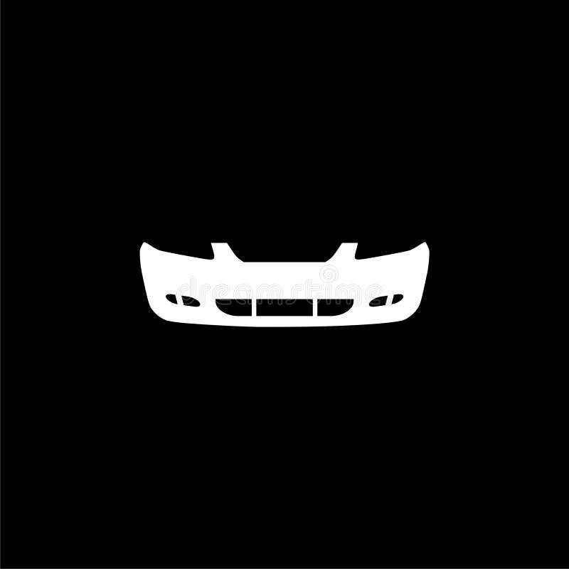 汽车防撞器象或商标在黑暗的背景 皇族释放例证