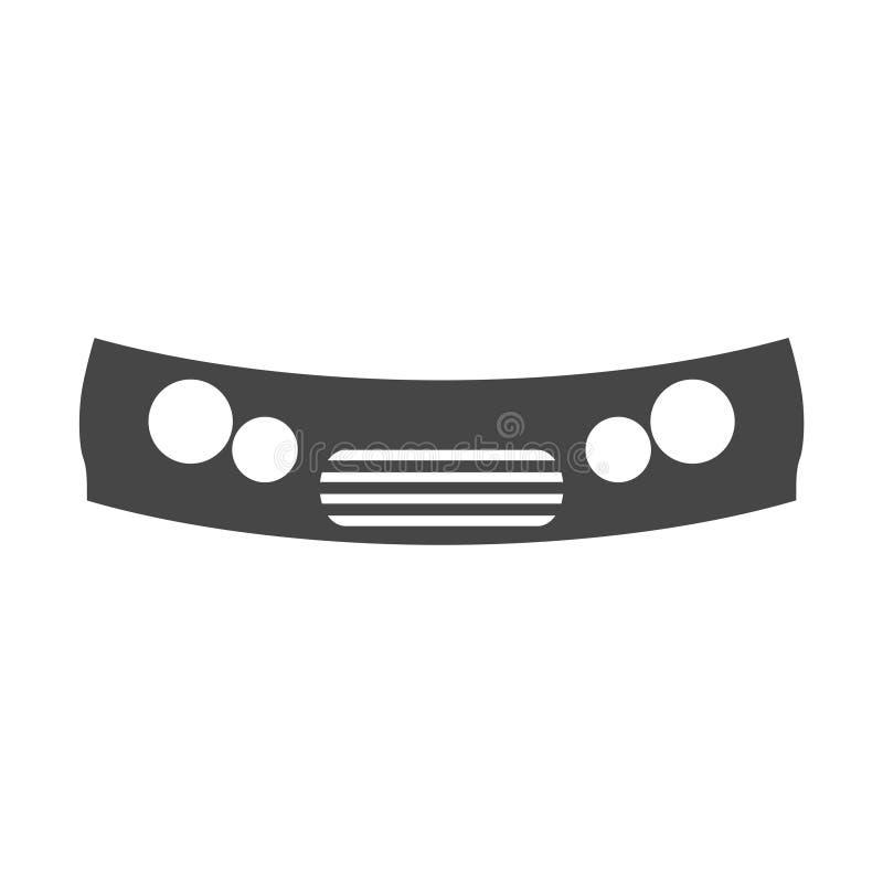 汽车防撞器象 库存例证